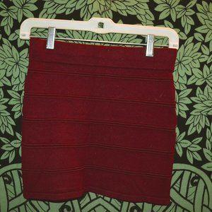 Forver 21 Maroon Mini Skirt